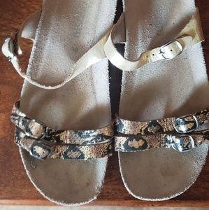 Gold Mephisto sandals